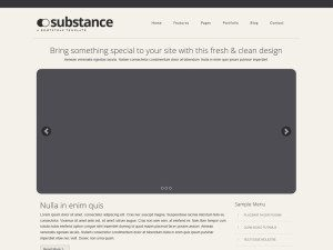 Substance Free Bootstrap HTML Template