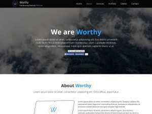 Worthy - Free Multipurpose Bootstrap Template