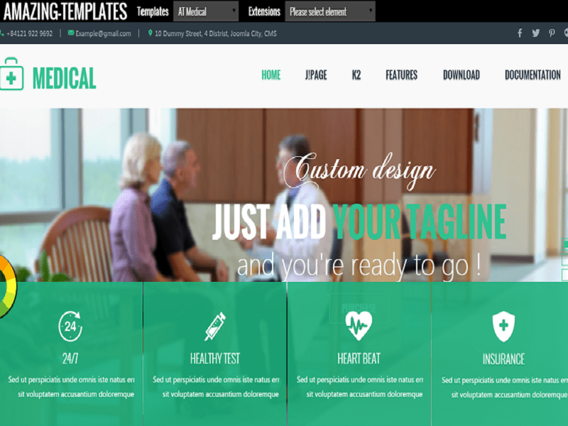AT Medical - Free Joomla Template For Hospital