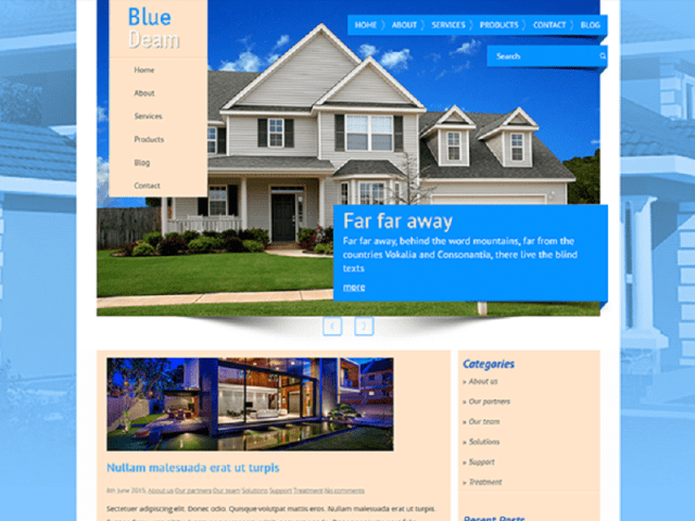 WordPress Template Free For Real Estate