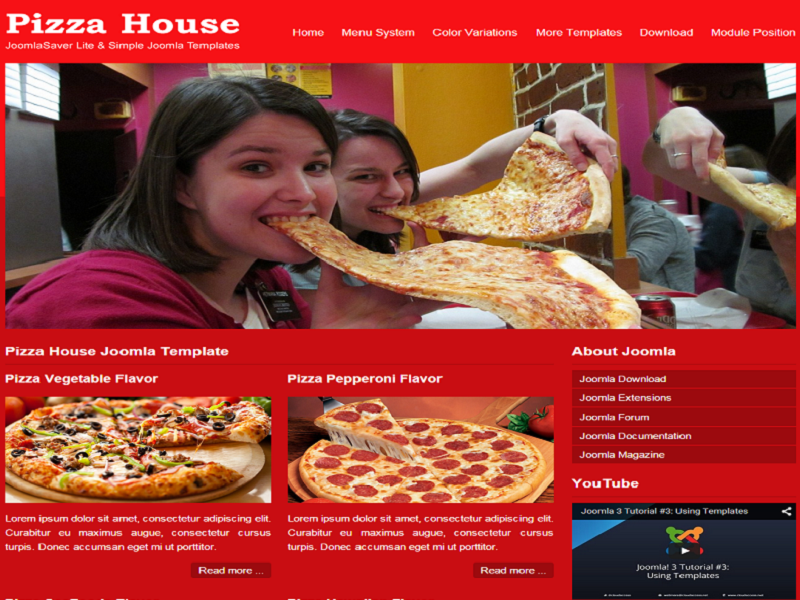 Free Joomla Template For Food