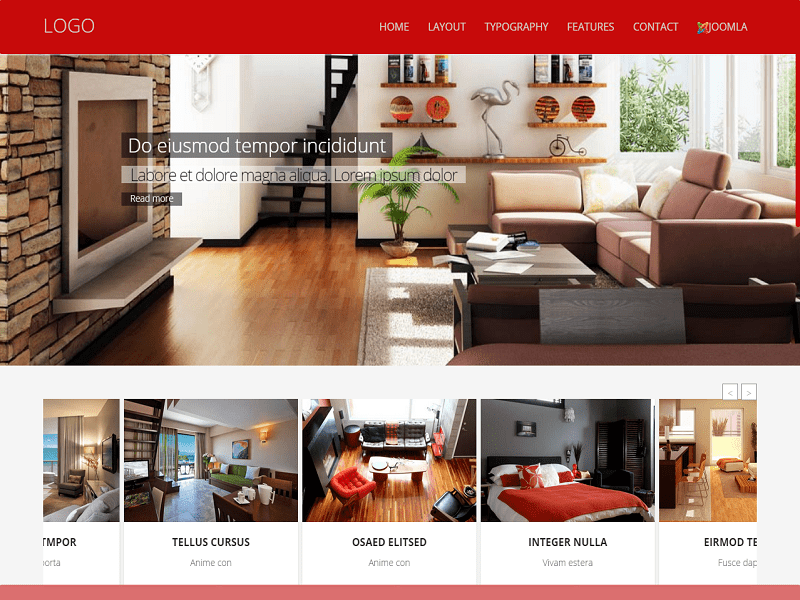 Td Optes Free Joomla Template For Furniture