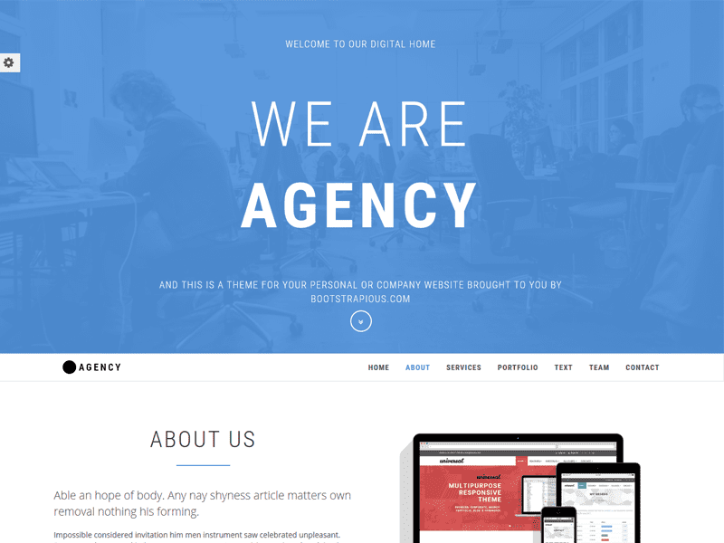 Agency Free Portfolio Bootstrap Website