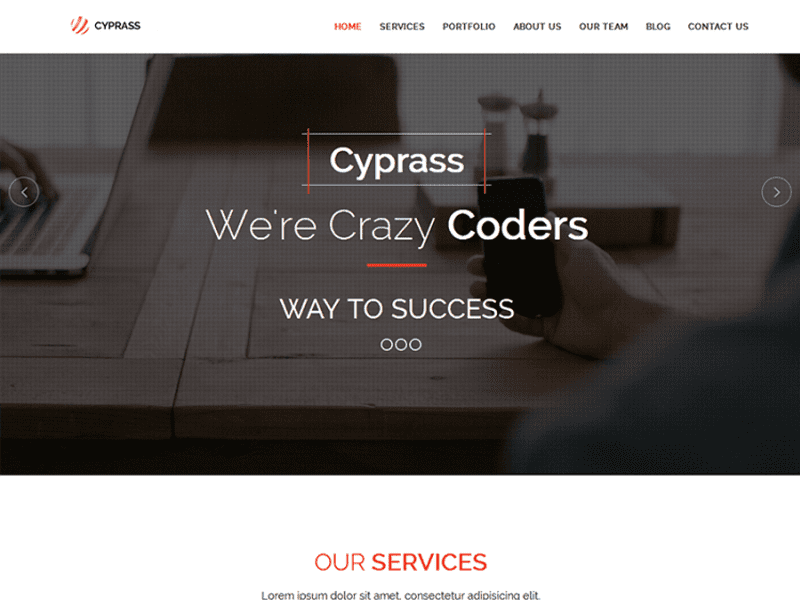 cyprass html5 responsive bootstrap business template