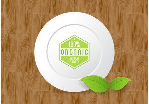 Organic Food Free Vector Template