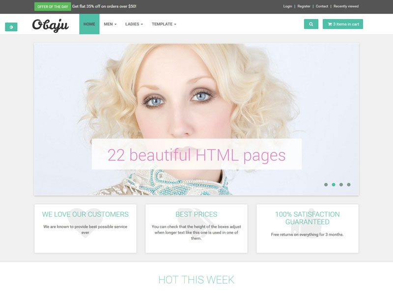 eCommerce Free Bootstrap Template