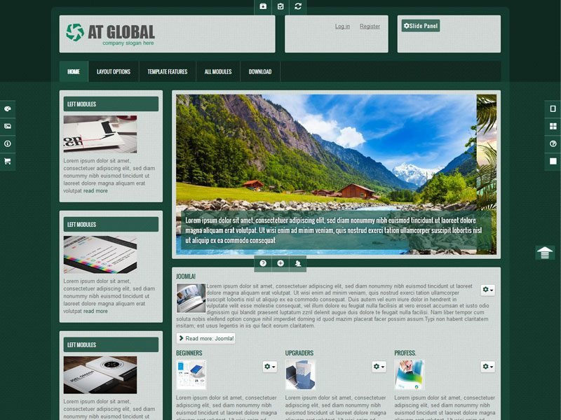 At global free joomla business template for Joomla empty template