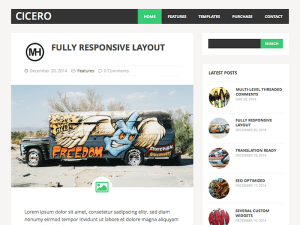 MH Cicero Lite Free Blog WordPress Theme