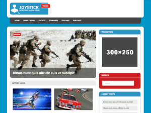 MH Joystick Lite Games Magazine WordPress Theme