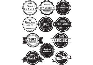 High Quality Badges Vector