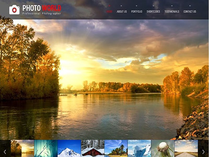 Photo World – Free WordPress Theme For Photographers