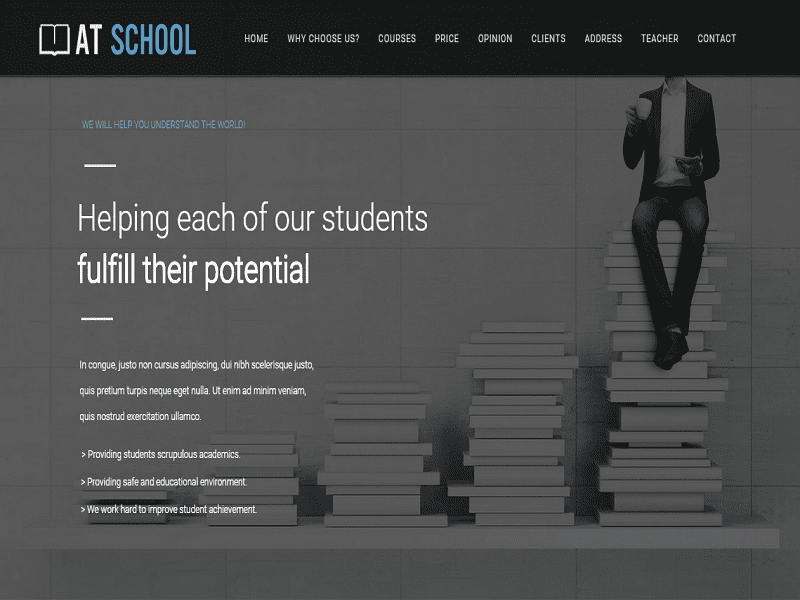 AT School Onepage – Joomla Free Template For Education