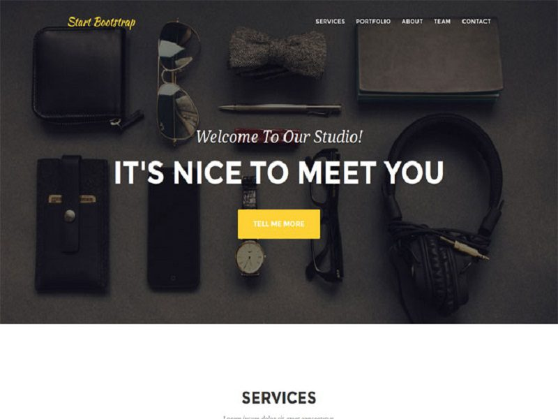 Agency – Bootstrap Theme Free For Agencies And Small Businesses