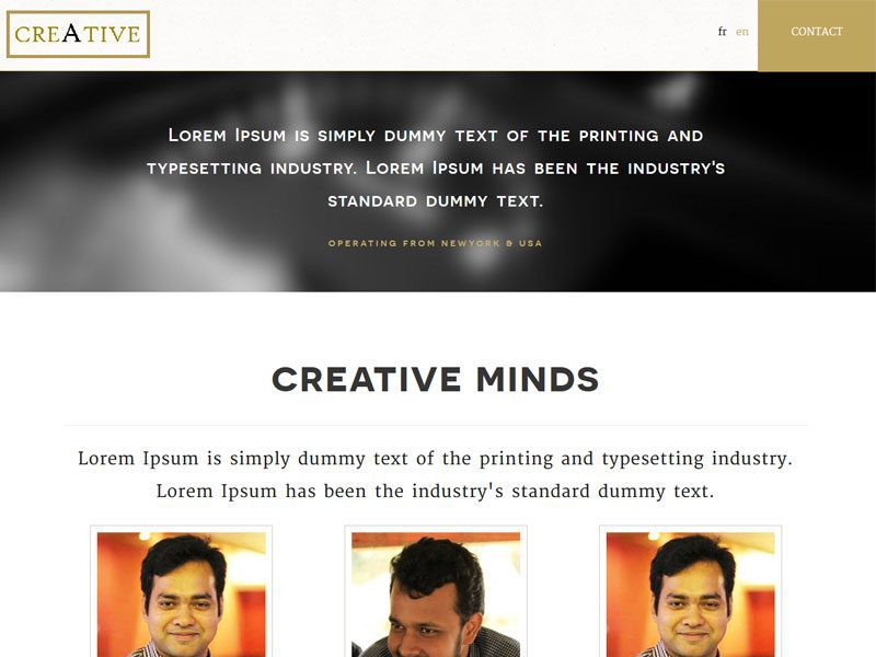Creative Agency FREE Bootstrap Template