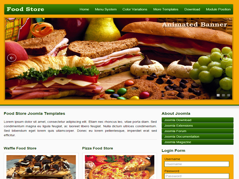 Food Store – Free Joomla Template For Restaurant