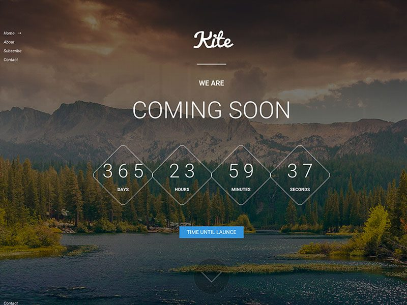 Kite – FREE Coming Soon Bootstrap HTML5 Template