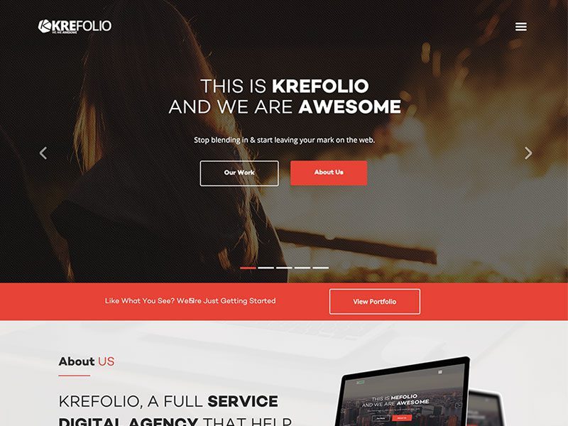 KreFolio – Bootstrap Agency Landing Page Template