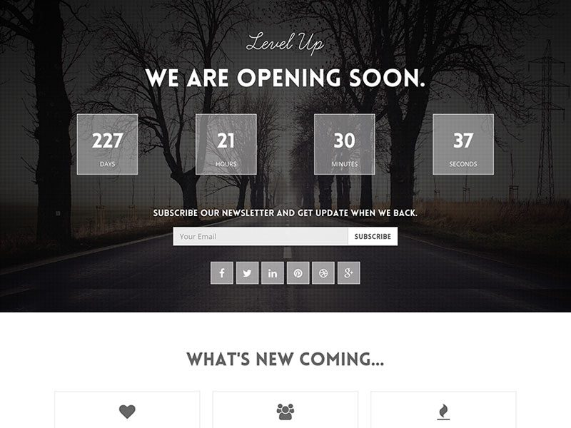 http://freemiumdownload.com/downloads/level-up-coming-soon-free-bootstrap-template/