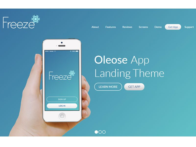 Oleose Landing Page Free Bootstrap Template