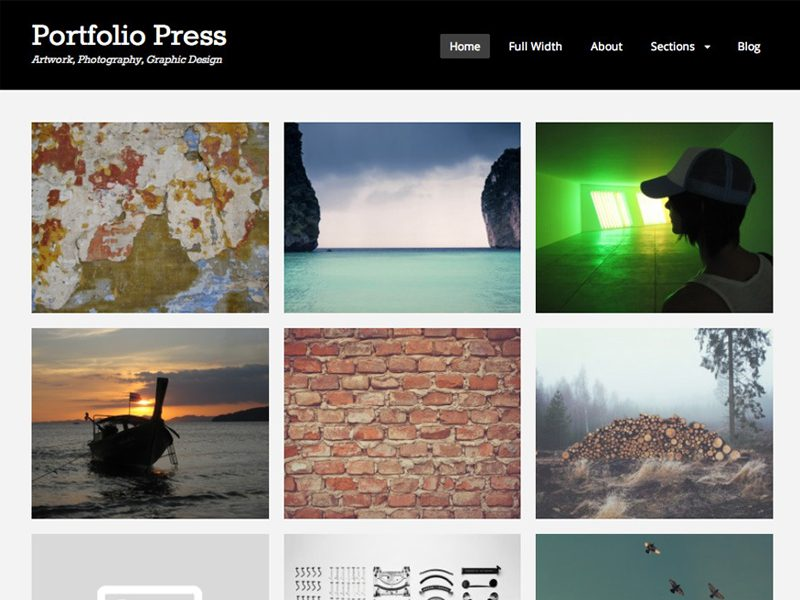 Portfolio Press Free WordPress Theme For Photography