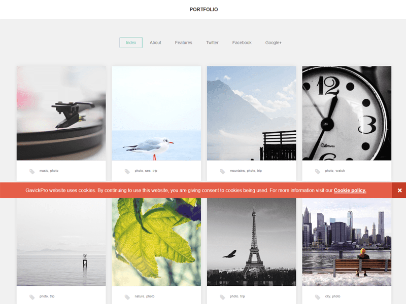 Portfolio Responsive WordPress Photography Theme