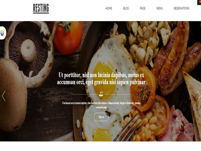 Resting – Responsive Joomla Template Free For Resting Restaurant