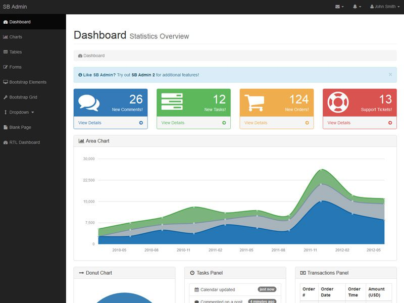 12 Best Free Bootstrap Themes For Admin Dashboard In