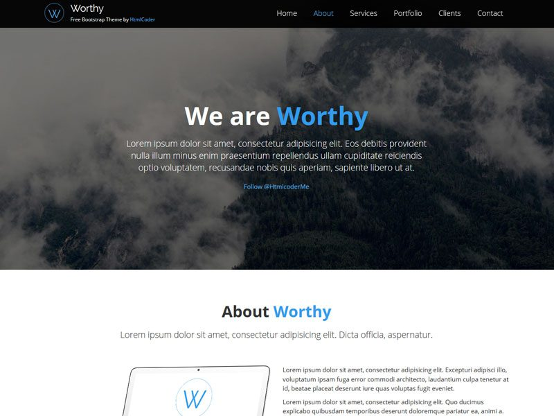 Worthy Bootstrap Business Free Template