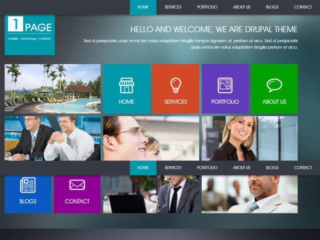 Onpage Drupal Template For Business