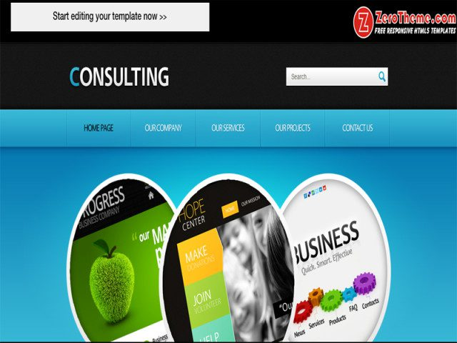 zConsulting Free Responsive Html5 Theme