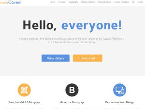 Meet Gavern Free Business joomla Template