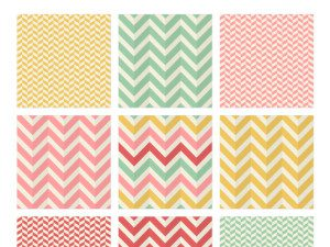 Seamless Herringbone Chevron Patterns Free Vector Template