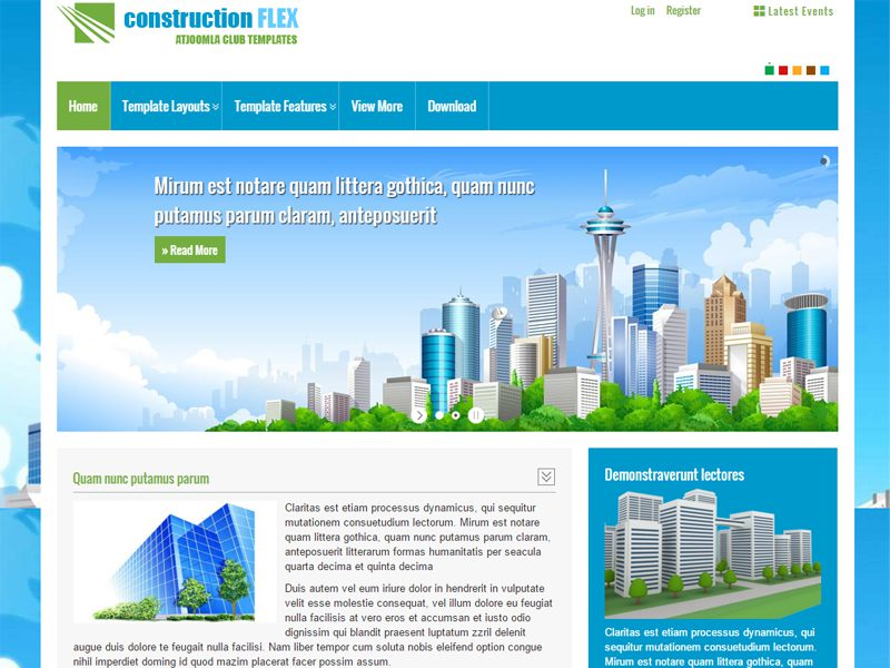 At constructionflex free business joomla responsive template fbccfo Images