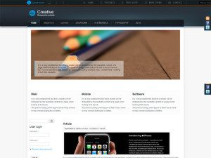 Creative Free Corporate Drupal Theme