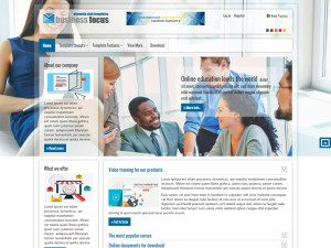 AT Businessfocus Joomla Template For Business