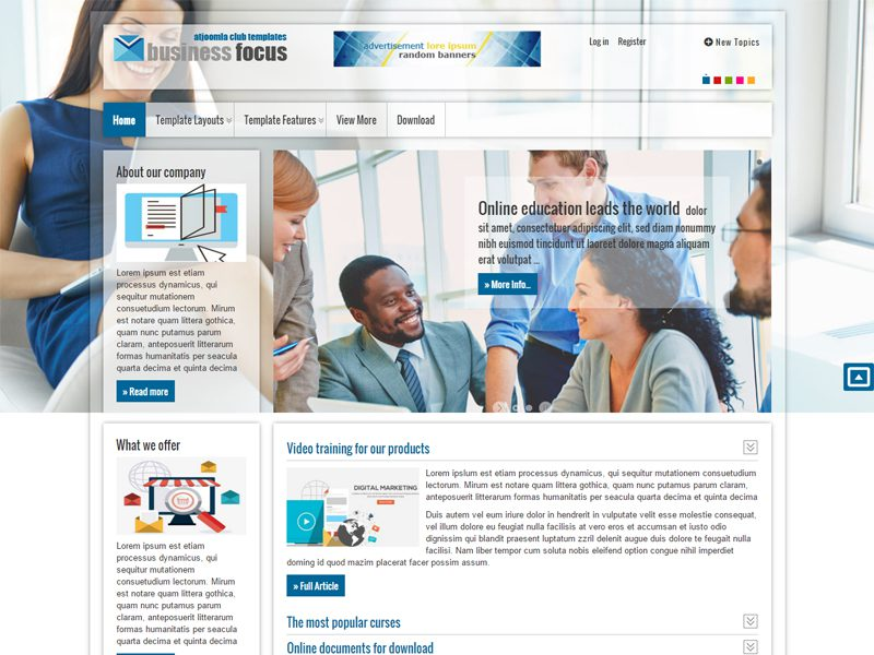 At businessfocus joomla template for business cheaphphosting Choice Image