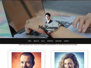 My Resume Free Photographers HTML Theme