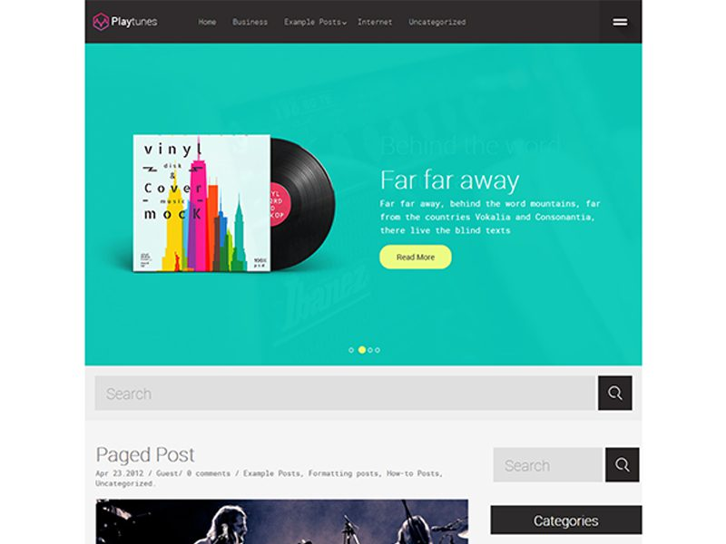 Playtunes Free Wordpress Theme For Music