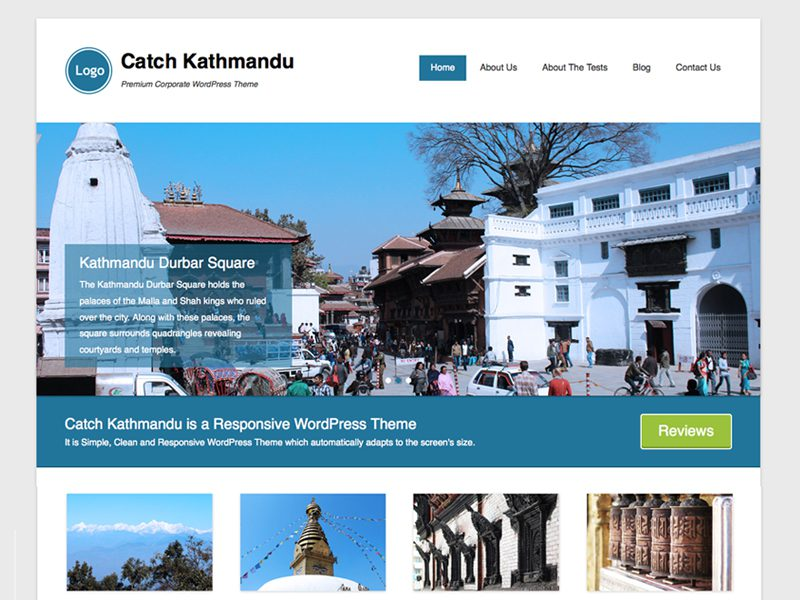 Catch Kathmandu Wordpress Photographer/Blogger Theme