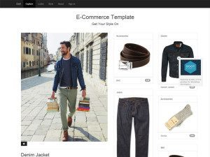 E-Commerce Free Responsive Bootstrap eCommerce Template