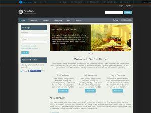 Starfish Free Drupal Business Theme