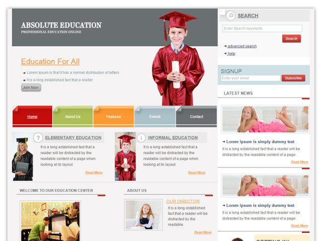 Education Responsive Bootstrap Template
