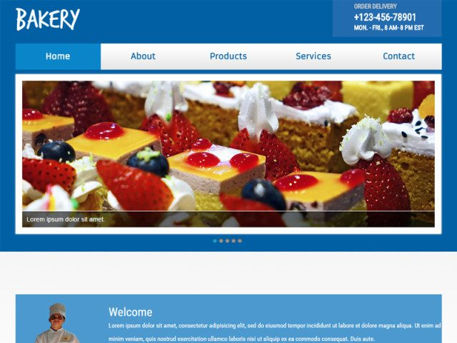 Bakery Free Bootstrap Template For Food