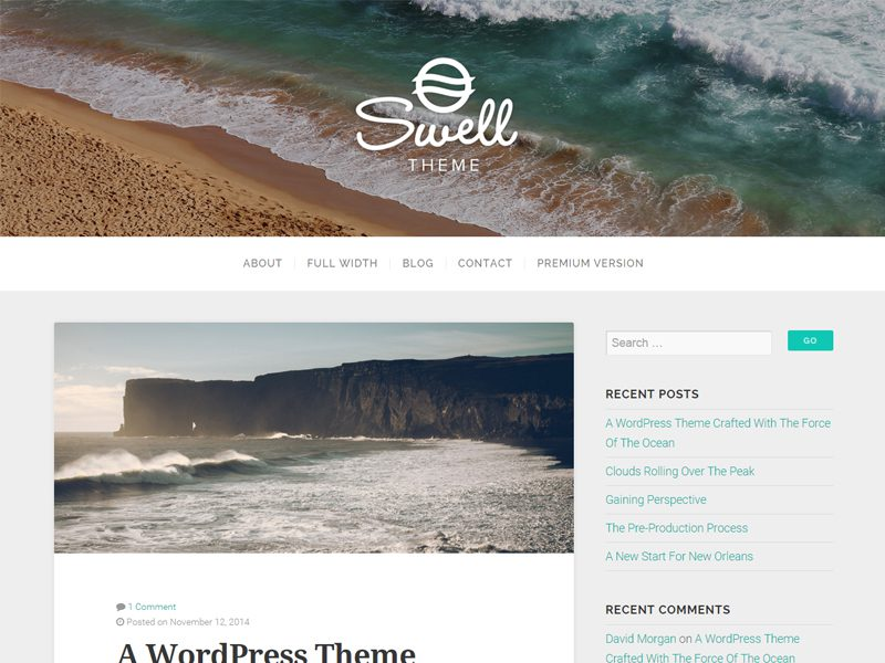 Swell Free Wordpress Theme For Bloger