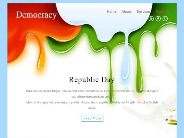 Democracy Free Bootstrap Template For Newsletter