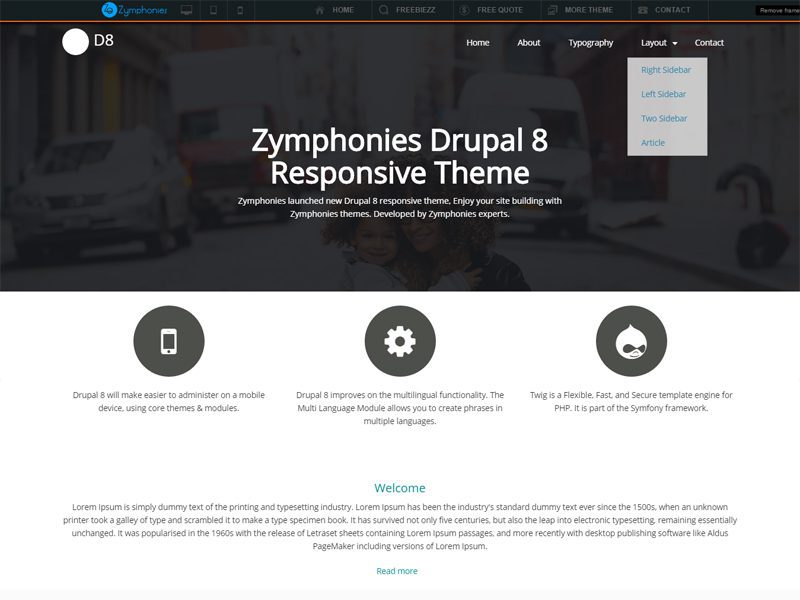 Drupal8 Free Drupal Theme For Design