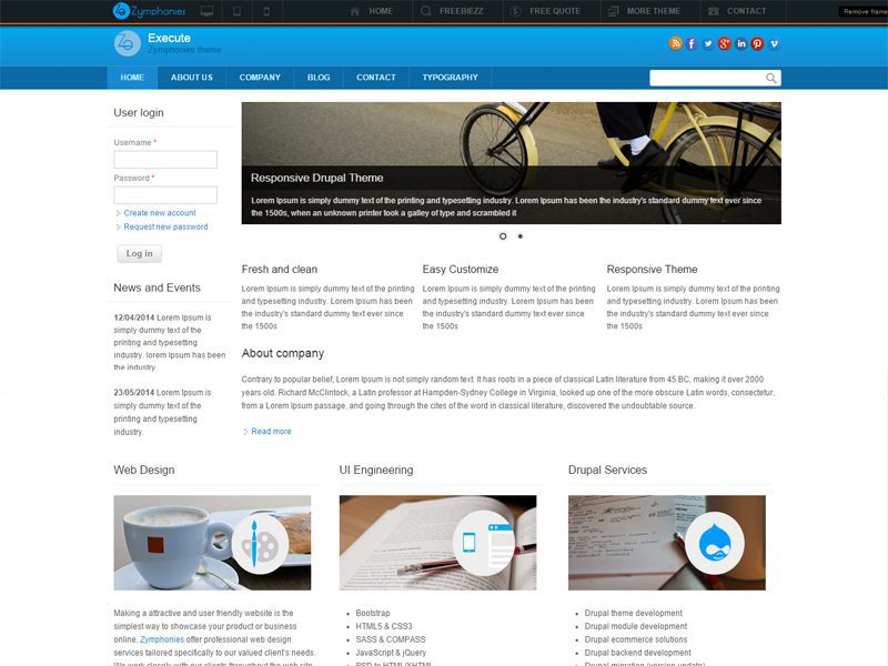 Free Drupal Theme For Business Website