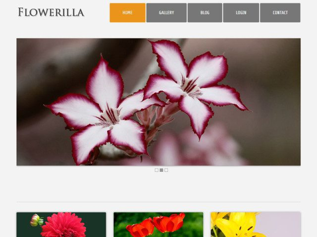Flowerilla Free Bootstrap Template For Florists