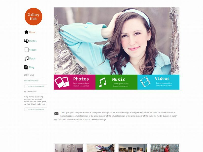 Gallery Hub Responsive Bootstrap Template