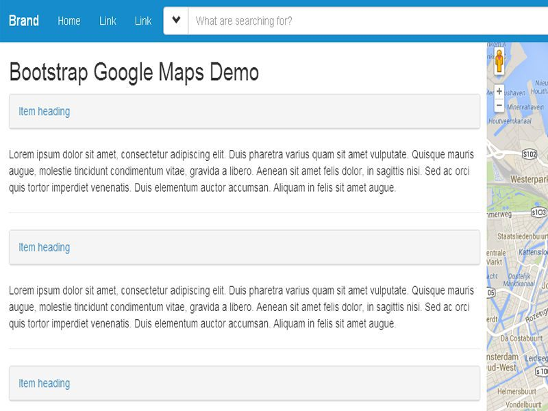 Google Maps Free Bootstrap Google Template - Freemium Download